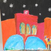 Kleine Kunstwerke sind beim Projekt im Museum entstanden. © Caritas