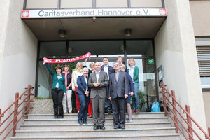 Caritasdirektor Waldemar Hanas und Mitarbeiter zu Besuch in Hannover