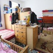 Ein Zimmer im Wohnheim der Caritas