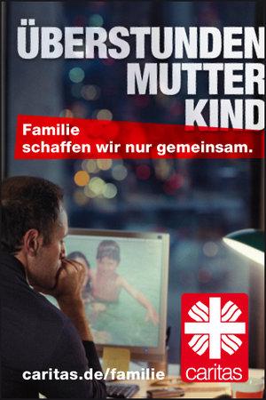 Überlastete Eltern: Ein weiteres Thema, das mit den Plakatmotiven der Kampagne aufgegriffen wird.